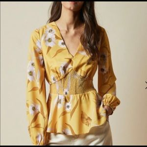 Ted Baker floral blouse